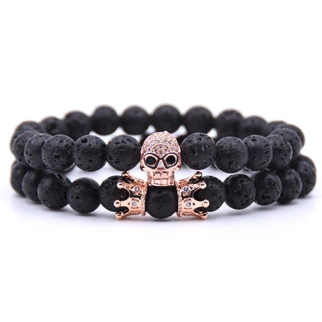 Stone Bracelet Skull