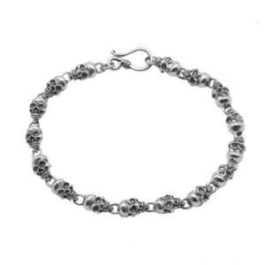 Silver Skull Bracelet for Men