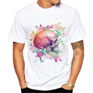 Skull Flower T Shirt