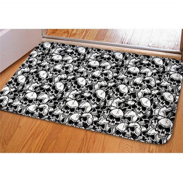 black and white carpet.
