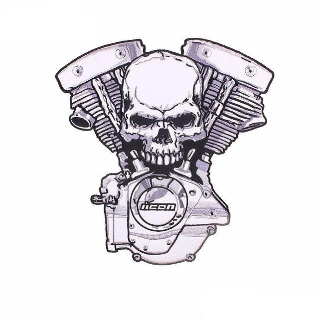 Biker Skull Patch