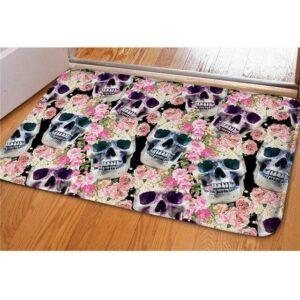 multi skull carpet.