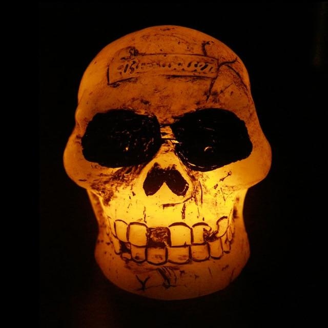 Scary skull lamps