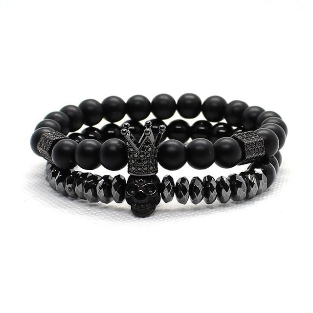 King Pearl Skull Bracelet