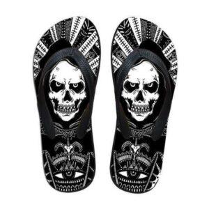 Black and White Skull Tong