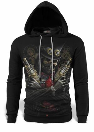 Skull and Crossbones Sweatshirt Gun