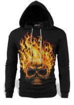 Death's Head On Fire Sweatshirt