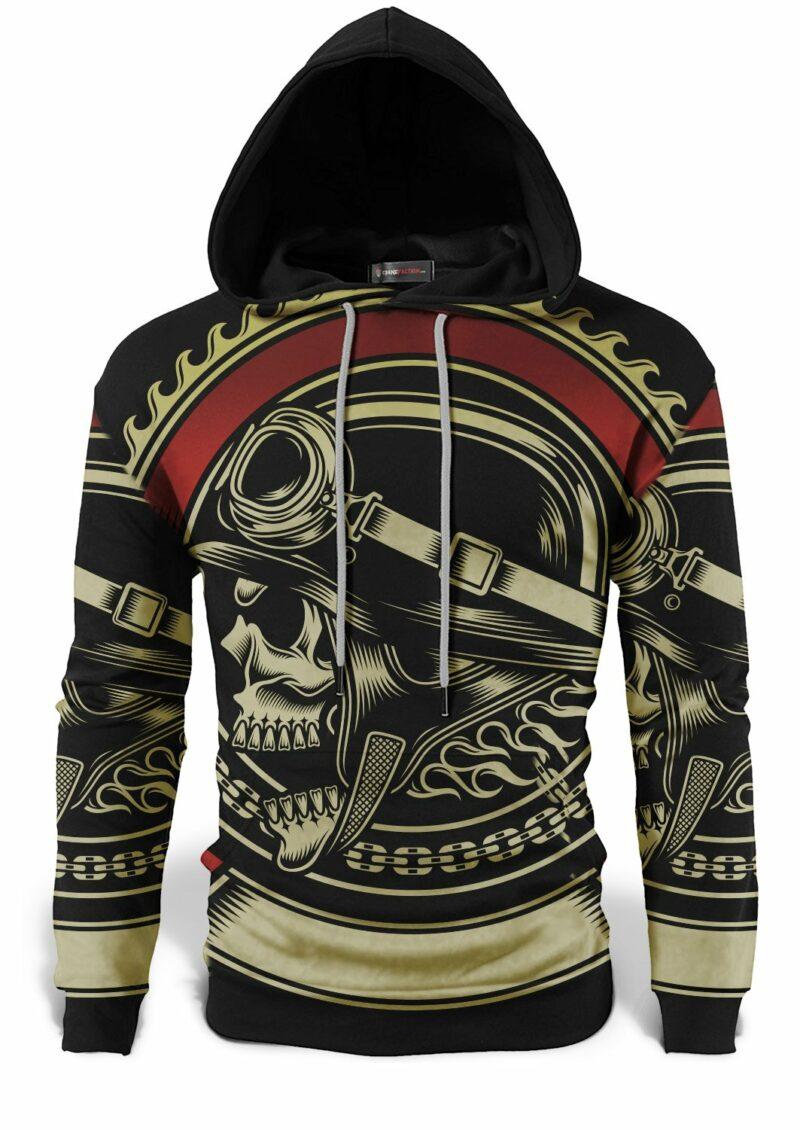 Biker Skull Sweatshirt