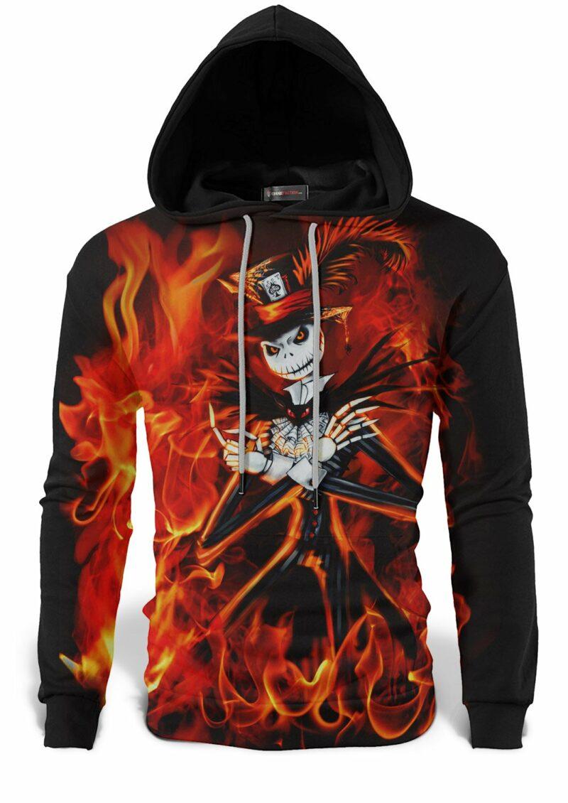 Skeleton in Flames Sweatshirt