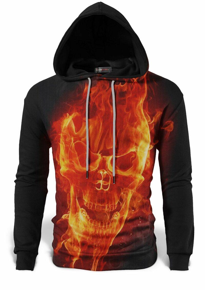 Flaming Skull Sweatshirt