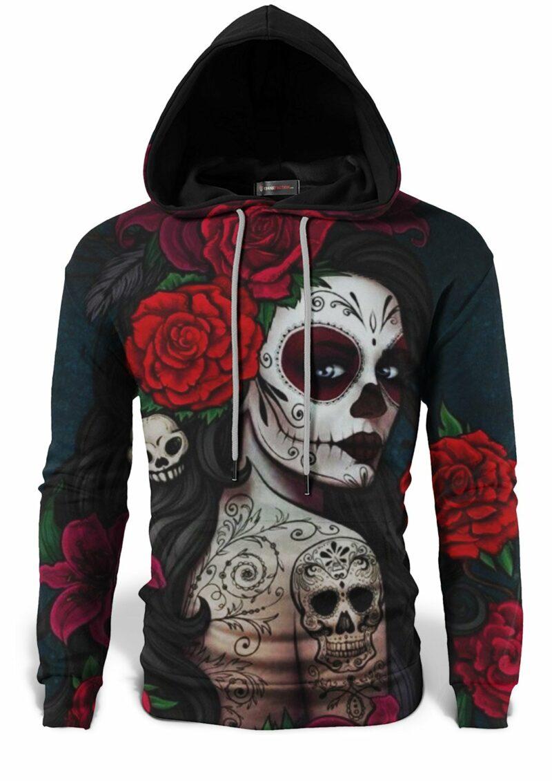 Mexican Woman Skull Sweatshirt