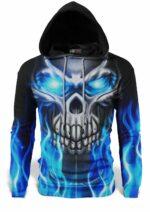 Blue Skull Sweatshirt