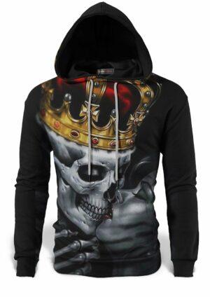 Skeleton Crown Sweat Shirt