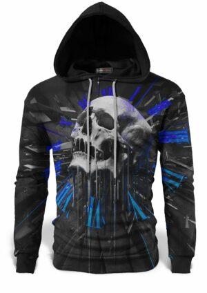 Abstract Skull Sweatshirt