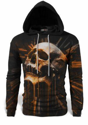 Orange Skull Sweatshirt