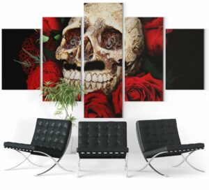 Picture Skull And Rose