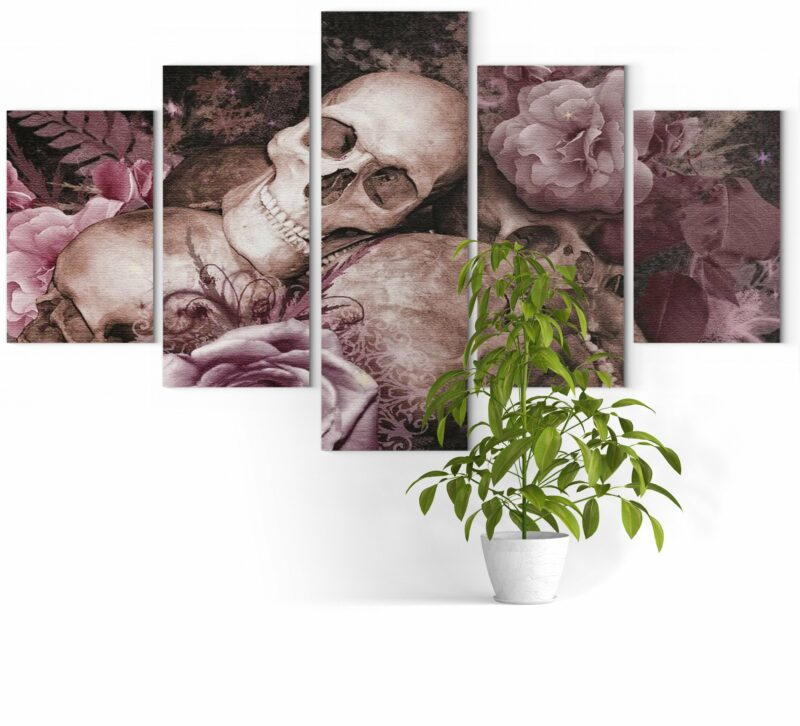 Picture Skull And Flower