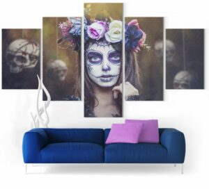 Picture Skull Mexican Woman