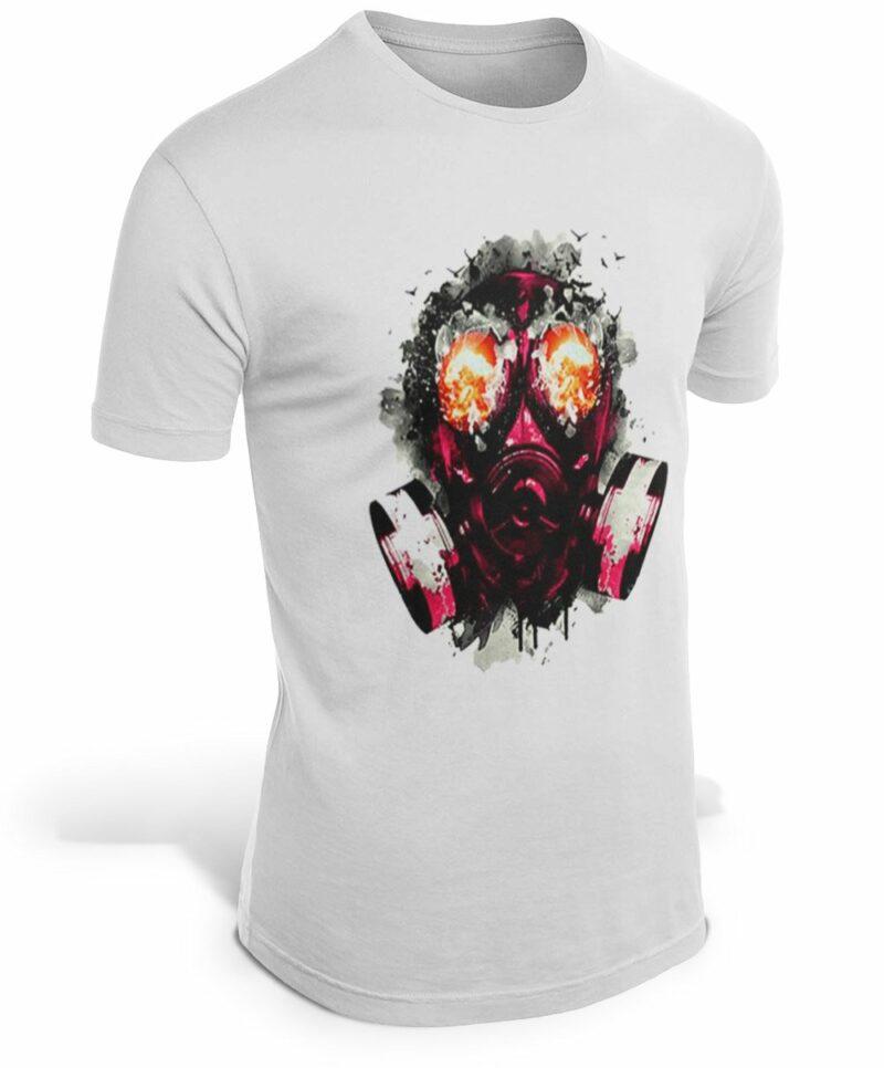 Skull & Crossbones Gas Mask T-Shirt