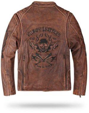 Vintage Biker Jacket (Leather)