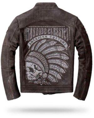 Indian Skull Jacket (Leather)